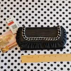 Betsey Johnson Black Leather Wallet (NWT)